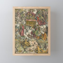 Albrecht Dürer - The Apocalypse (1498) - Hymn in Adoration of the Lamb Framed Mini Art Print