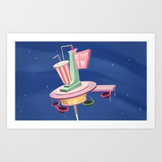Retro Diner Art Print