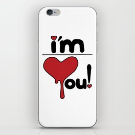 i'm over you! iPhone Skin