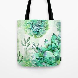 Irish Mint Garden Tote Bag