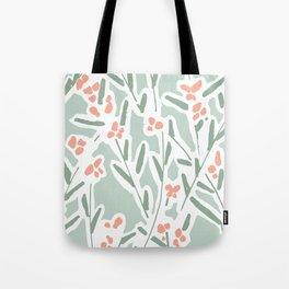Mirbelia Twigs White Tote Bag