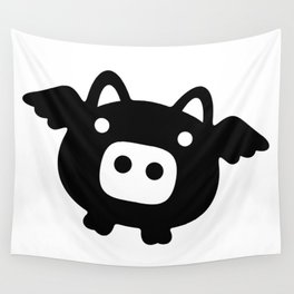 Pigs Will Fly (b&w) Wall Tapestry