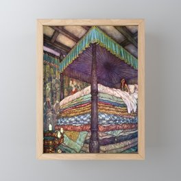 Princess and the Pea By Edmund Dulac Framed Mini Art Print