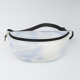 Blue and White Marble Waves Fanny Pack