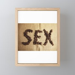 SEX - Coffee beans Framed Mini Art Print