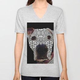 Stone Rock'd Dog 2 by Sharon Cummings Unisex V-Neck