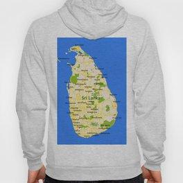 Sri Lanka Map Design Hoody