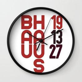 Bauhaus Art Deco Architecture Wall Clock