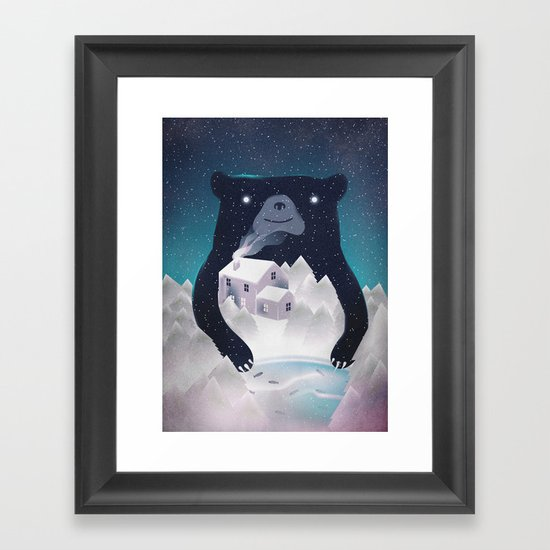 I ♥ Winter Framed Art Print