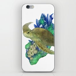Sea Turtle and Azurite iPhone Skin