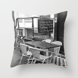 Lunch Under The Rain - Amsterdam Throw Pillow
