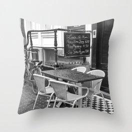 Lunch Under The Rain - Amsterdam Throw Pillow