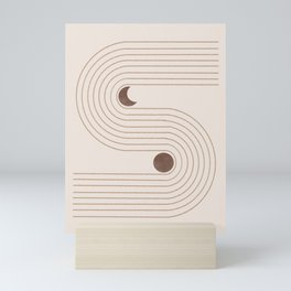 Woodblock Beige Mid Century Modern Mini Art Print