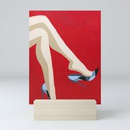 Woman in Heels Mini Art Print