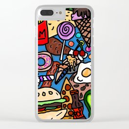 Funky Foodie Clear iPhone Case