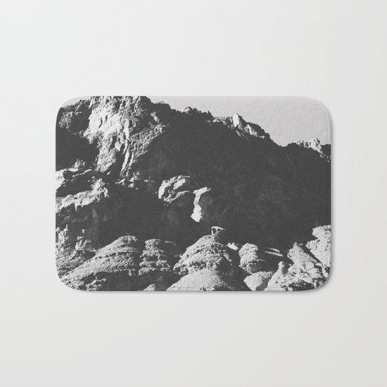 Black & White Mountains Bath Mat