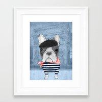 french bulldog Framed Art Prints featuring French Bulldog. by Barruf