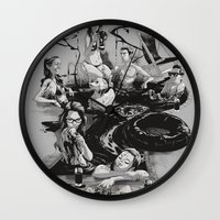 swim Wall Clocks featuring SWIM by SPYKEEE