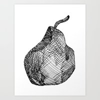 pear Art Prints featuring Pear by Of Newts and Nerds