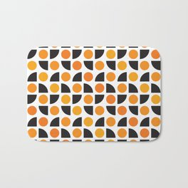 Geometric Pattern 175 (orange spots) Bath Mat