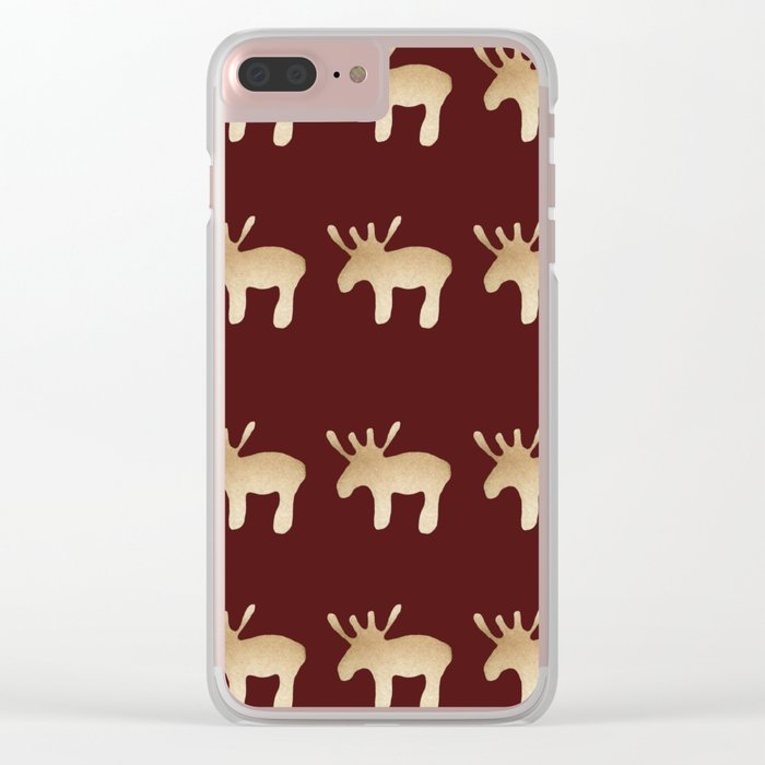 Reindeer queues #decor #buyart Clear iPhone Case