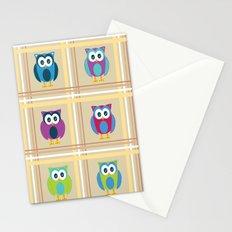 Plaid Owls Stationery Cards