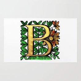 Monogram Alphabet Letter 'B' Rug