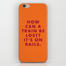 The Darjeeling Limited - How can a train be lost? It's on rails. iPhone & iPod Skin