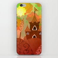 castle in the sky iPhone & iPod Skins featuring Castle by Ingrid Castile