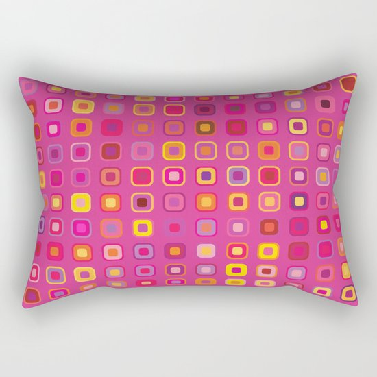 Retro in Pink Rectangular Pillow