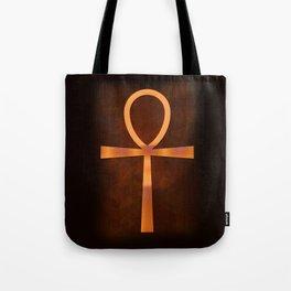 Ankh in Glowing Orange Tote Bag