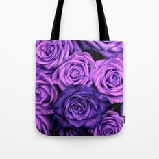 Purple Roses Tote Bag