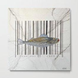Code bar Metal Print