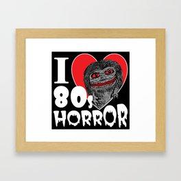 I Love 80s Horror Framed Art Print