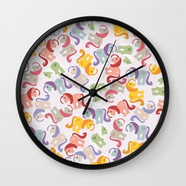 ponies invasion Wall Clock