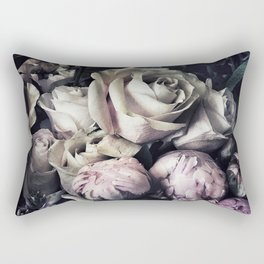 Roses and peonies vintage style Rectangular Pillow