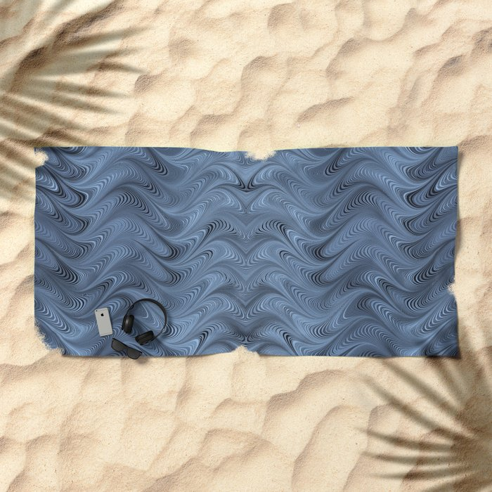 Blue Swirl Beach Towel