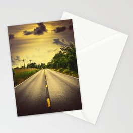 Louisiana Highway 82, an ample opportunity to see gators crossing the road Stationery Cards