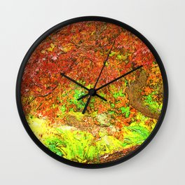 Canopy of Red Wall Clock
