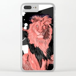 Lion Coral Clear iPhone Case
