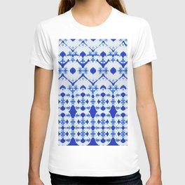 big diamond tie-dye T-shirt