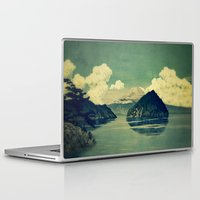 blues Laptop & iPad Skins featuring Distant Blues by Kijiermono