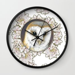 Barn owl small Wall Clock