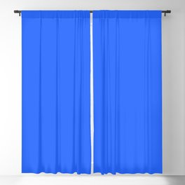 Ultra Marine Blue Solid Color Block Blackout Curtain
