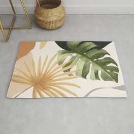 Abstract Art Tropical Leaves 22 Rug
