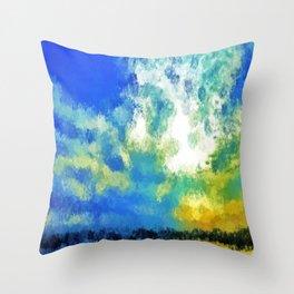 feathered horizon Throw Pillow