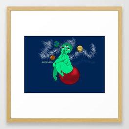 Alien universe Framed Art Print