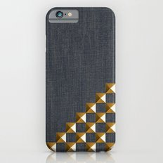 Denim with Gold Studs Slim Case iPhone 6s