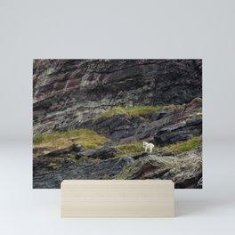 A Rocky Landscape and a Mountain Goat No. 1 Mini Art Print