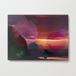 Colorful Sunset on the Beach Metal Print